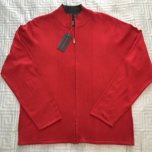NWT Mens Full Zip Sweater